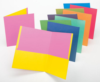 Tops Twisted Twin Pocket Folders, Letter Size, Assorted