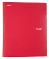 Five Star Pocket and Prong Plastic Folder, Assorted Colors