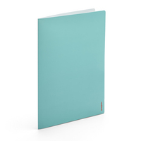 Poppin Aqua  Coral 2Pocket Poly Folder