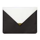C.R. Gibson Black and white leatherette document folio, 8x12