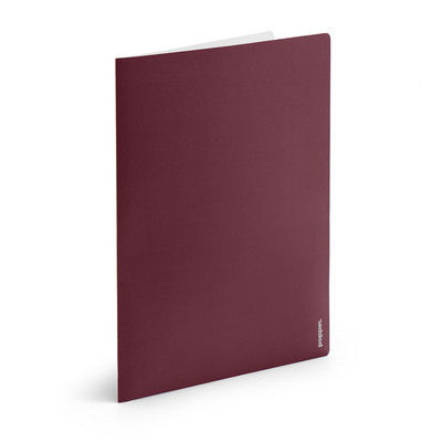 Poppin Wine  Light Gray 2Pocket Poly Folder
