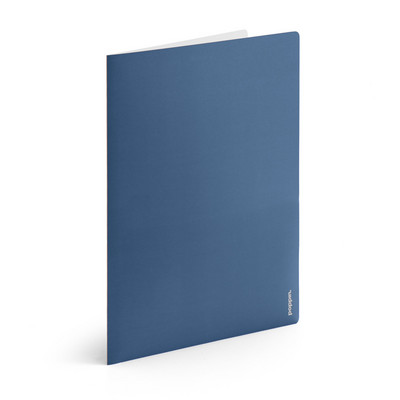 Poppin Slate Blue  Light Gray 2Pocket Poly Folder
