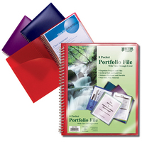 Better Office Products 8 Pocket Biodegradable Portfolio with Front View Cover
