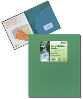 Better Office Products 2Pocket Presentation Folder With Large Velcro Pocket