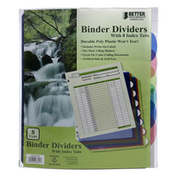 Better Office Products Binder Dividers with 8 Index Tabs