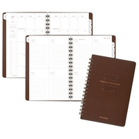 ATAGLANCE Signature Collection AY WM Planner, JulJul, 5 34x8 12, Brown