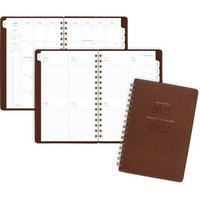 ATAGLANCE Signature Collection Academic Weekly Monthly Planners, 5 12 x 8 12, Brown