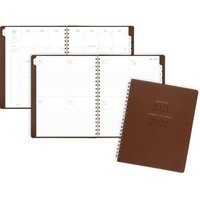 ATAGLANCE Signature Collection Academic Weekly Monthly Planners, 8 12 x 11, Brown