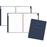 ATAGLANCE Signature Collection Academic Weekly Monthly Planners, 8 12 x 11, Navy