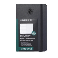 Black Large 18 mo Planner  Hard Cover July 2017  Dec 2018 SEAL DB
