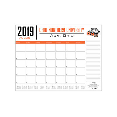 West Ada Calendar.Desktop Custom Calendar 17x22 The Ohio Northern University Bookstore