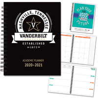 2020  2021 Hard Cover School Spirit Academic Planner.  7X9 full color inside.