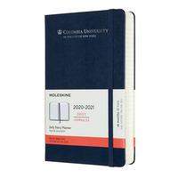 Moleskine 18 month Navy 2021 LargeCalendar with Foil embossed logo.