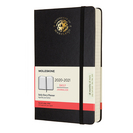 Moleskine 18 month Black2021 LargeCalendar with Foil embossed Seal