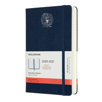 Moleskine 18 month Navy 2021 LargeCalendar with Foil embossed Seal