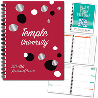 Spirit Soft Touch Foil  School Name Imprinted Planner 2122 AY 7x9