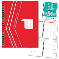 Traditional Soft Touch Foil  Wordmark Imprinted Planner 2122 AY 7x9