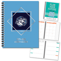 Traditional Soft Touch Foil  Mascot Imprinted Planner 2122 AY 7x9