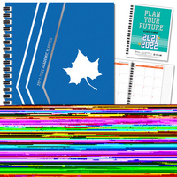Traditional Soft Touch Spot Varnish  School Name Imprinted Planner 2122 AY 7x9