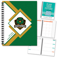 Traditional Soft Touch Spot Varnish  Mascot Imprinted Planner 2122 AY 7x9