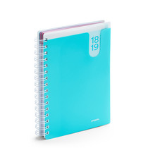 Poppin Aqua Medium 18 Month Pocket Planner, 20182019