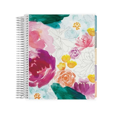Erin Condren Coiled Academic Planner 2018  2019 School year, with tabs
