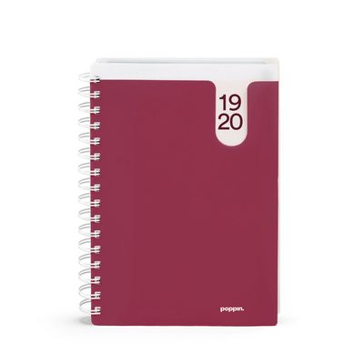 Poppin Wine Medium 18Month Pocket Book Planner, 20192020