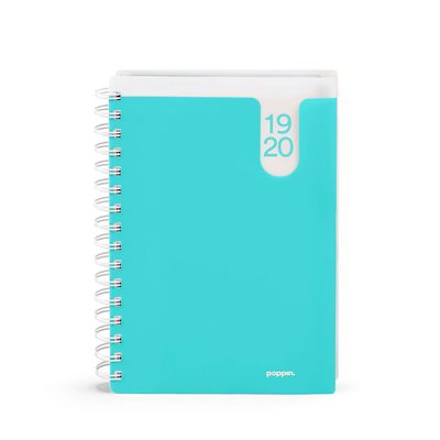 Poppin Aqua Medium 18Month Pocket Book Planner, 20192020