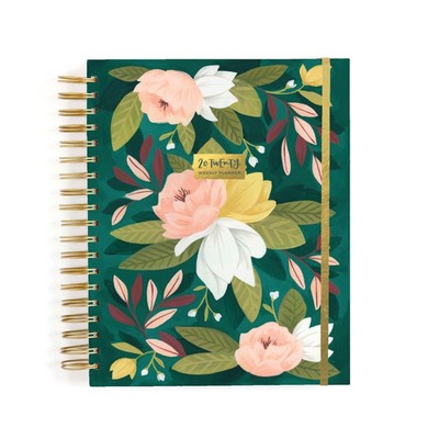 Ambrose Floral Wise Words Academic Planner, monthlyweekly calendar, 8x10, ruler, Aug 2019July 2020