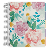 Erin Condren Watercolor Blooms Academic Planner, 12 Months (August 2019  July 2020)   7 x 9