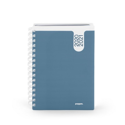 Poppin Slate Blue Medium 18 Month Pocket Book Planner, 20202021