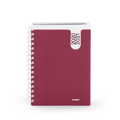 Poppin Wine Medium 18 Month Pocket Book Planner, 20202021