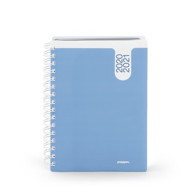 Poppin Sky Blue Medium 18 Month Pocket Book Planner, 20202021