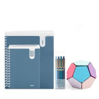 Poppin Planner and Accessories Set, Slate Blue