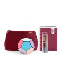 Poppin Planner and Accessories Set, Wine
