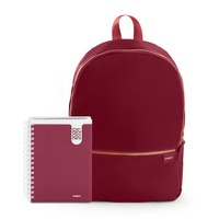 Poppin Planner and Backpack Set, Wine  Wine
