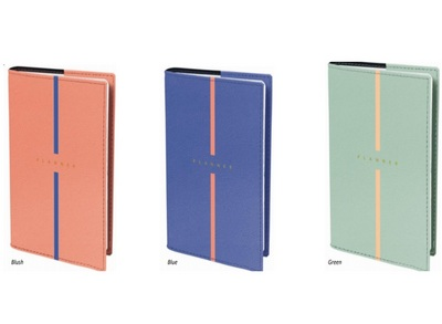 Billy Note 21 Refillable Planner  Assorted Colors