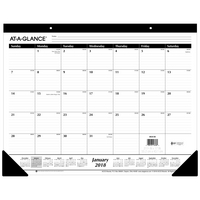 ATAGLANCE Contemporary Academic Monthly Desk Pad, 12 Months, July Start, 22 x 17