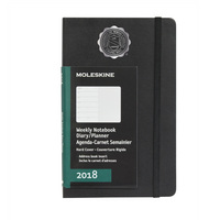 Black pocket 12 mo  Planner  Hard Cover Jan 2018  Dec 2018 School Seal Foil Stamped
