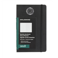 Black Large 12 mo Planner  Hard Cover Jan 2018  Dec 2018 School Seal Foil Stamped