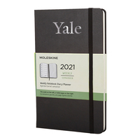 Moleskine 12 month Black  2021 LargeCalendar with Foil embossed logo.