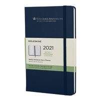 Moleskine 12 month Navy  2021 LargeCalendar with Foil embossed logo.