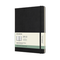 2020 Moleskine 18 Month Planner, Weekly Notebook, Hard Cover, Snappy Pink, Large