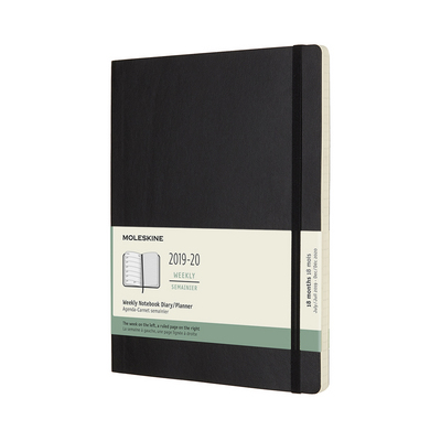 2020 Moleskine 18 Month Planner, Weekly Notebook, Soft Cover, Sapphire Blue, Large