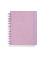 BANDO LARGE PLANNER, LILAC GLITTER