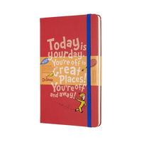 2020 Moleskine 18 Month Planner Limited Edition, Weekly Notebook, Dr. Suess, Red, Large