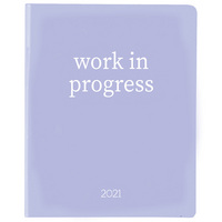 2020   2021 Lilac Vinyl 8 x 10 Planner Work in Progress