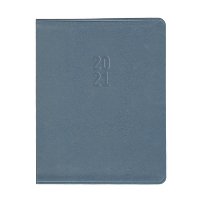Gallery Leather Large Academic Monthly Planner Dusty Blue