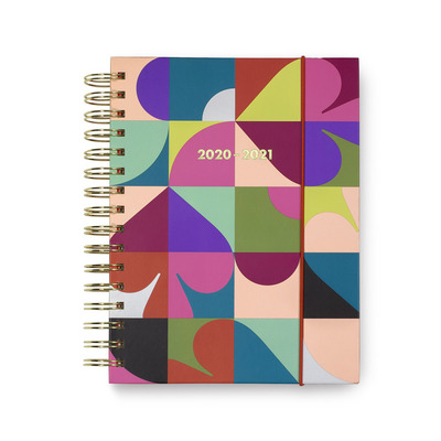 17 Month Large Planner, Spade Dot Geo