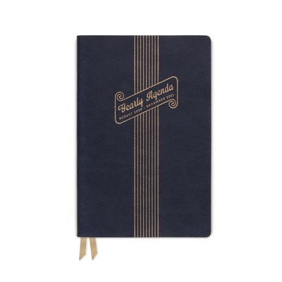 2020 2021 DesignWorks Ink Vegan Leather Navy Yearly Plans 17 Month Planner